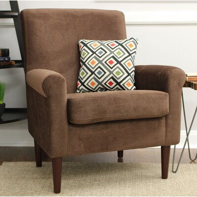 Ponce Upholstery Armchair Upholstery: Brown