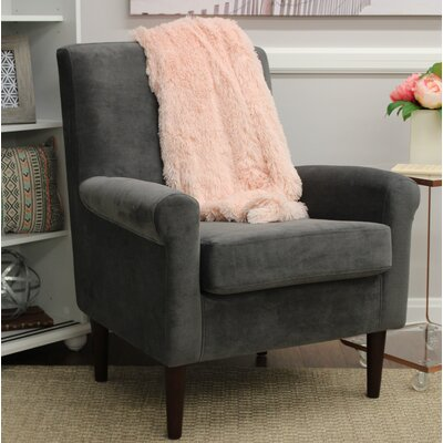 Ponce Upholstery Armchair Upholstery: Dark Gray