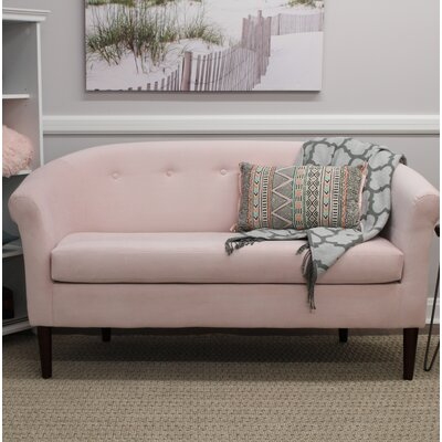 Reichenbach Settee Upholstery: Blush Pink