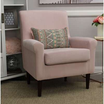 Ponce Upholstery Armchair Upholstery: Blush Pink