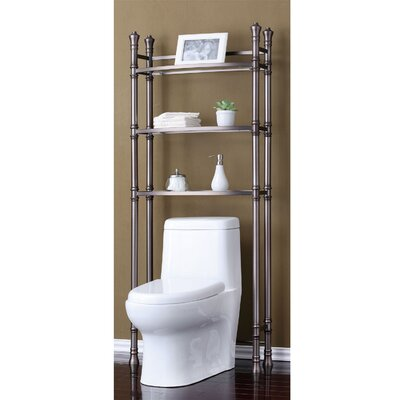 Monte Carlo Bathroom Space Saver Shelf Finish Brushed Titanium Bathroom Shelves Over Toilet