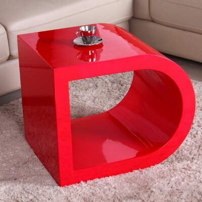 Glossy Functional Coffee Table Color: Red