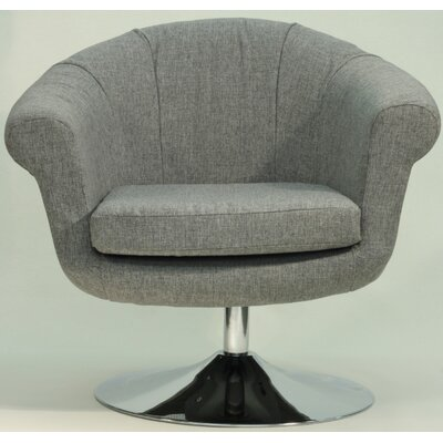 Overman Disc Base Barrel Chair Color: Light Gray