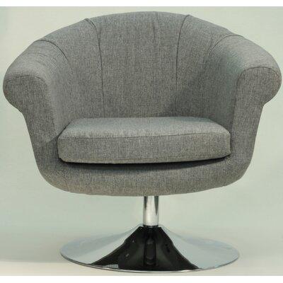Overman Disc Base Barrel Chair Color: Light Gray