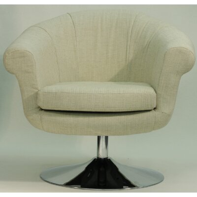 Overman Disc Base Barrel Chair Color: Oatmeal