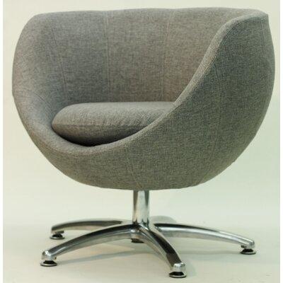 Overman Five Prong Base Globus Barrel Chair Color: Light Gray