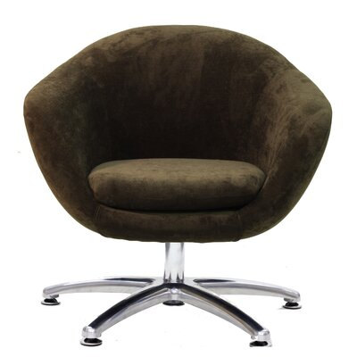 Overman Five Prong Base Comet Barrel Chair Color: Brown