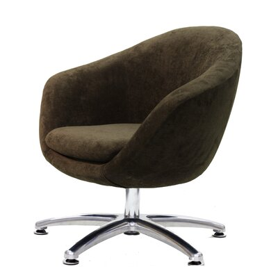 Overman Five Prong Base Comet Barrel Chair Upholstery: Brown