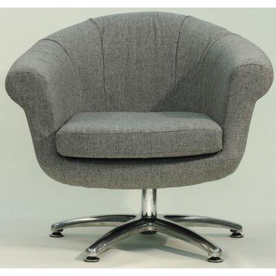 Overman Five Prong Twist Barrel Chair Color: Light Gray
