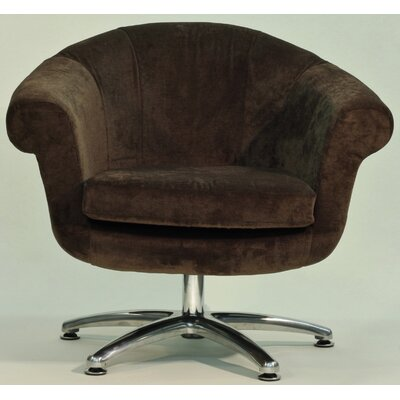 Overman Five Prong Twist Barrel Chair Upholstery: Brown