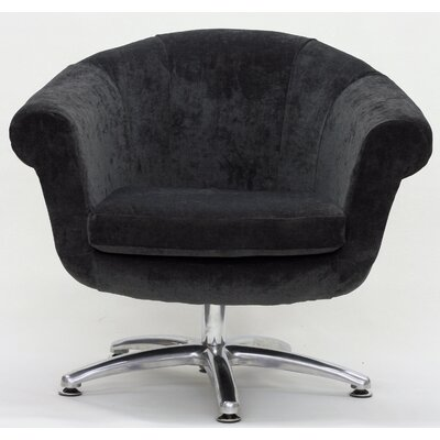 Overman Five Prong Twist Barrel Chair Upholstery: Dark Gray