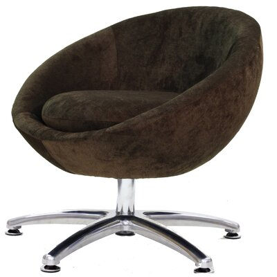 Overman Five Prong Base Astro Barrel Chair Upholstery: Brown
