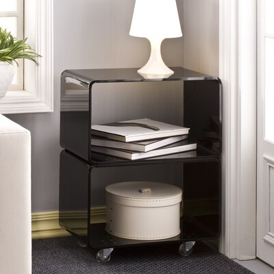 Pure D�cor End Table Color: Black
