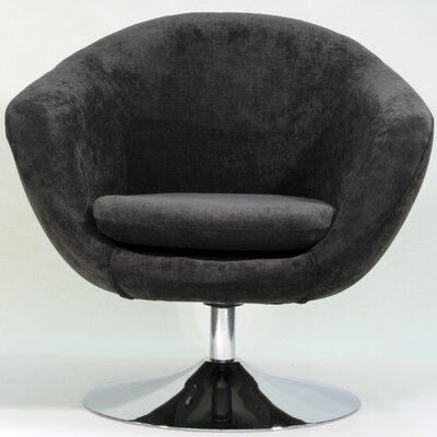 Overman Disc Base Comet Barrel Chair Color: Dark Gray