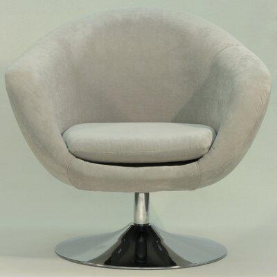 Overman Disc Base Comet Barrel Chair Color: Light Tan