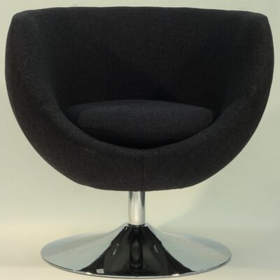Overman Disc Base Globus Barrel Chair Color: Black