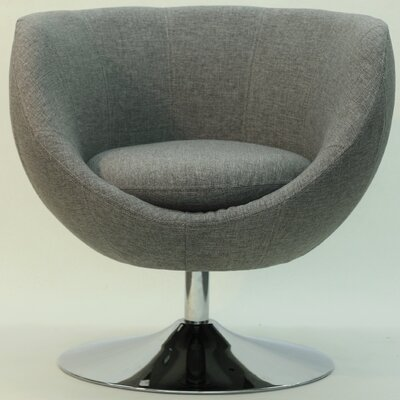 Overman Disc Base Globus Barrel Chair Color: Light Gray