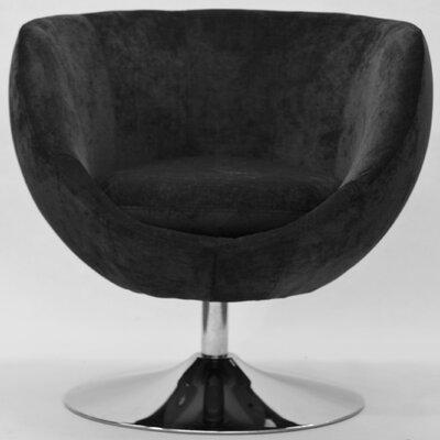 Overman Disc Base Globus Barrel Chair Color: Dark Gray