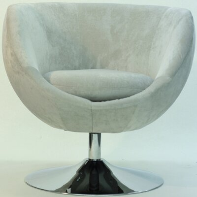 Overman Disc Base Globus Barrel Chair Color: Light Tan