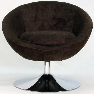 Overman Disc Base Astro Barrel Chair Color: Brown