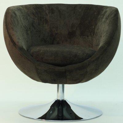 Overman Disc Base Globus Barrel Chair Color: Brown