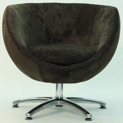 Overman Five Prong Base Globus Barrel Chair Color: Brown