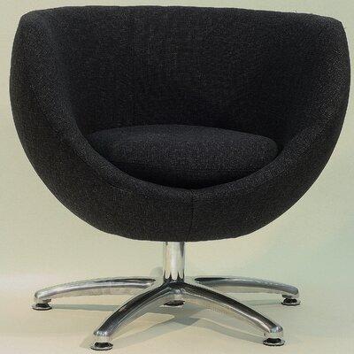 Overman Five Prong Base Globus Barrel Chair Color: Black