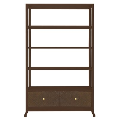 Caprice Etagere 80'' Bookcase Finish: Hazelnut Product Image 139