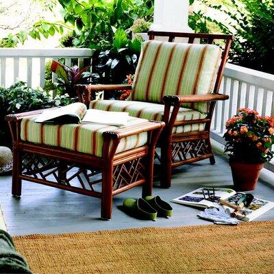 Wildon Home Key Largo Chair and Ottoman - Finish: Pecan, Fabric: Shells-Sand Gimbelwave at Sears.com