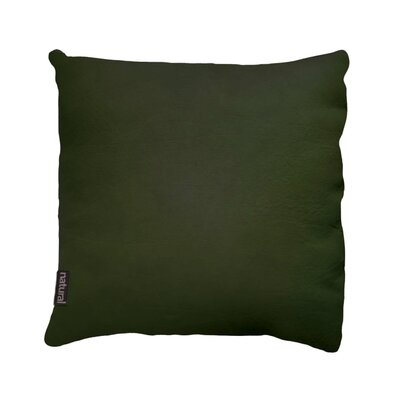 Sienna Leather Pillow in Dark Green