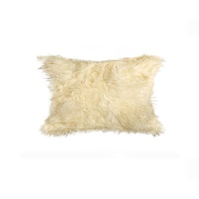 Siemering Mongolian Sheepskin Lumbar Pillow Color: Natural