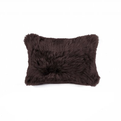 Siemering Indoor Leather Lumbar Pillow Color: Chocolate