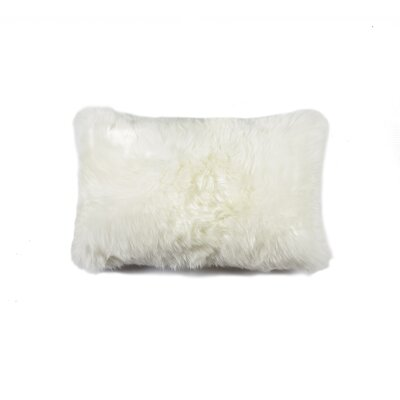 Natural 100% Sheppskin Lumbar Pillow Color: Natural