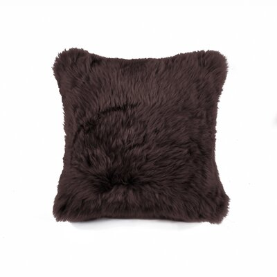 Natural 100% Sheppskin Throw Pillow Color: Chocolate
