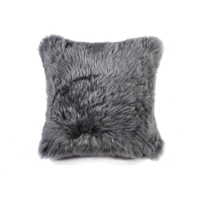 Natural Sheepskin Throw Pillow Color: Gray
