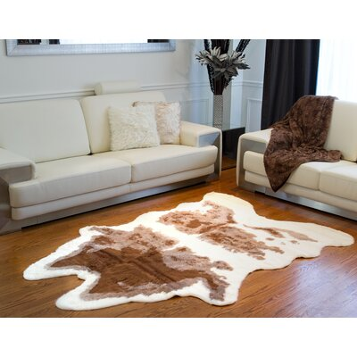 Brown/White Cowhide Area Rug