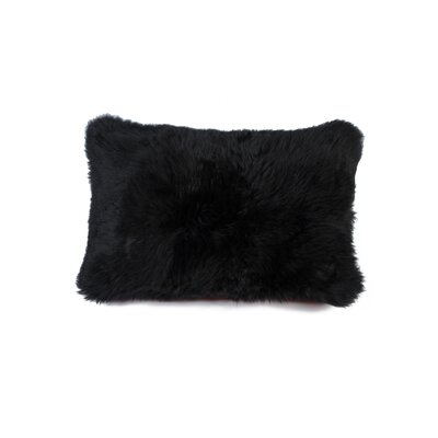 Siemering Indoor Leather Lumbar Pillow Color: Black