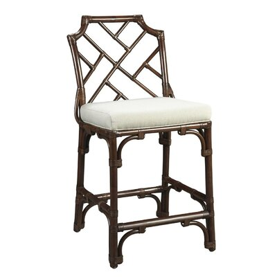 New Classics Chippendale 26 Counter Height Stool Finish: Mahogany