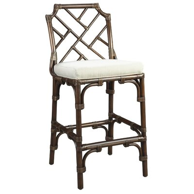 New Classics Chippendale 28 Counter Height Stool Finish: Mahogany