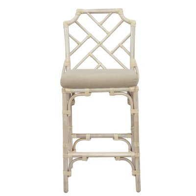 New Classics Chippendale 26 Counter Height Stool Finish: Linen