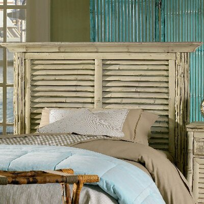 Coastal Chic Panel Headboard Upholstery: Antique White, Size: Twin