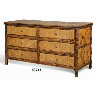Coastal Chic 6 Drawer Double Dresser Color: Tortoise