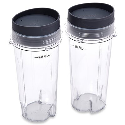 Ninja 16-Ounce Single Serve Cups with Lids XWP002CS