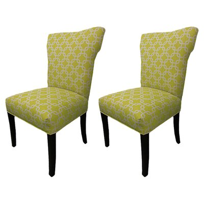 Kober Citrus Wingback Cotton Side Chair