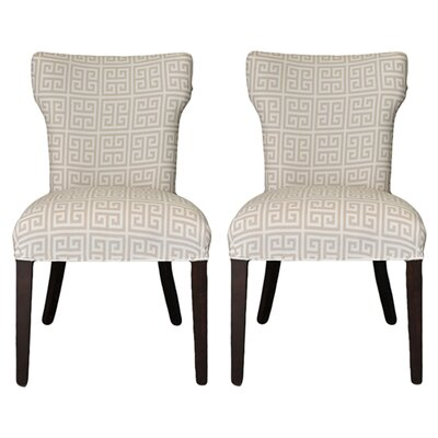Kasumi Chain Wingback Cotton Side Chair