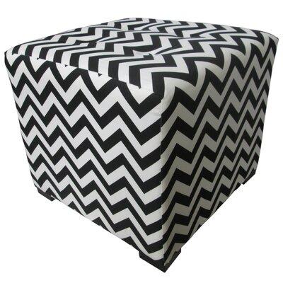 Merton Ottoman Upholstery: Zig Zag Black and White