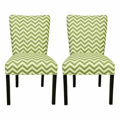 Julia Side Chair Upholstery: Zig Zag Green / Natural