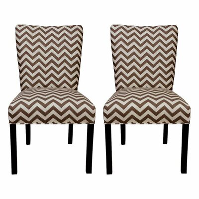 Julia Side Chair Upholstery: Zig Zag Brown / Natural