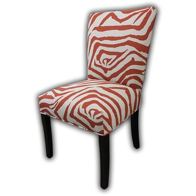 Garavan Side Chair Upholstery: Zebra Auburn