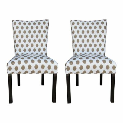 Garavan Side Chair Upholstery: Jojo Brown